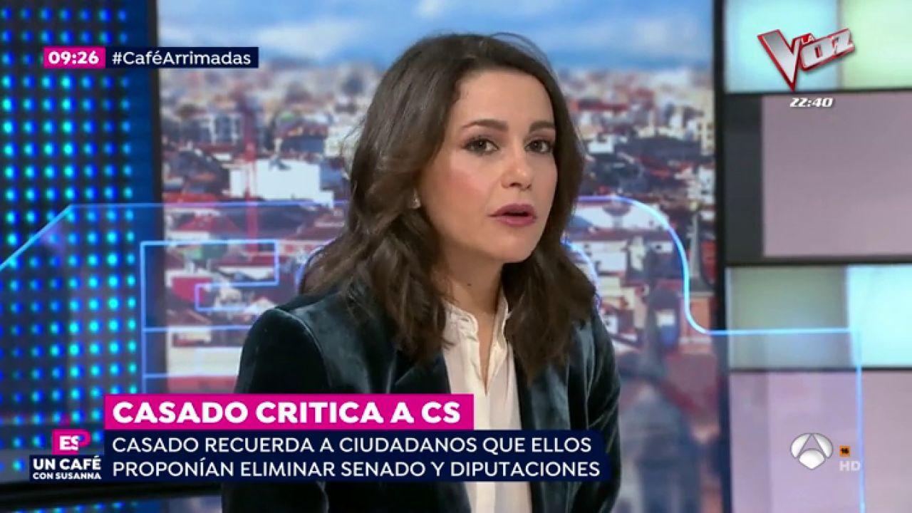 In s arrimadas pedro s nchez es un obst culo para el for Antena 3 espejo publico hoy