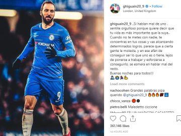 Gonzalo Higuaín responde a Matteo Salvini por Instagram