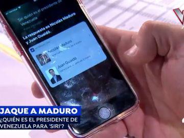 Siri, el más equidistante en cuanto a Venezuela: reconoce a Nicolás Maduro y a Juan Guaidó como presidentes