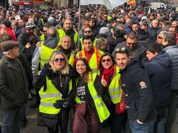 Taxistas de Elche en las movilizaciones de Madrid