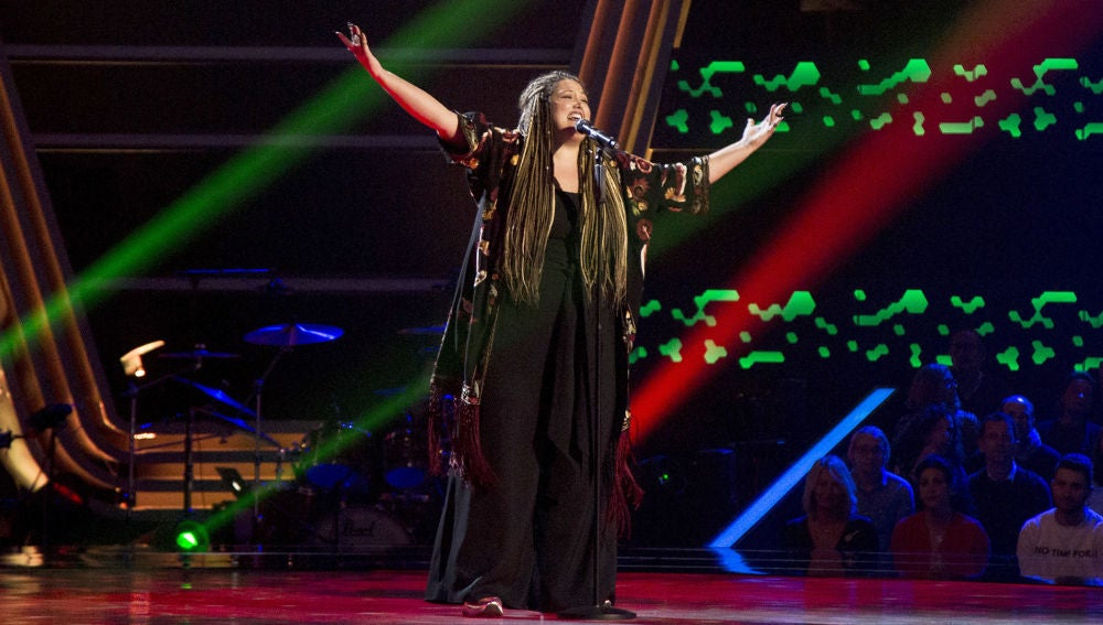 Adriana Rosa canta 'Is this love' en las 'Audiciones a ciegas' de 'La Voz'