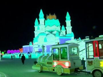 La 'ciudad del hielo' en China atrae a más de un millón de turistas