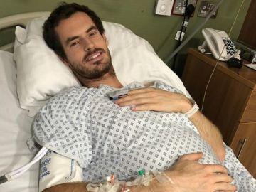 Andy Murray, tras su operación de cadera en Londres