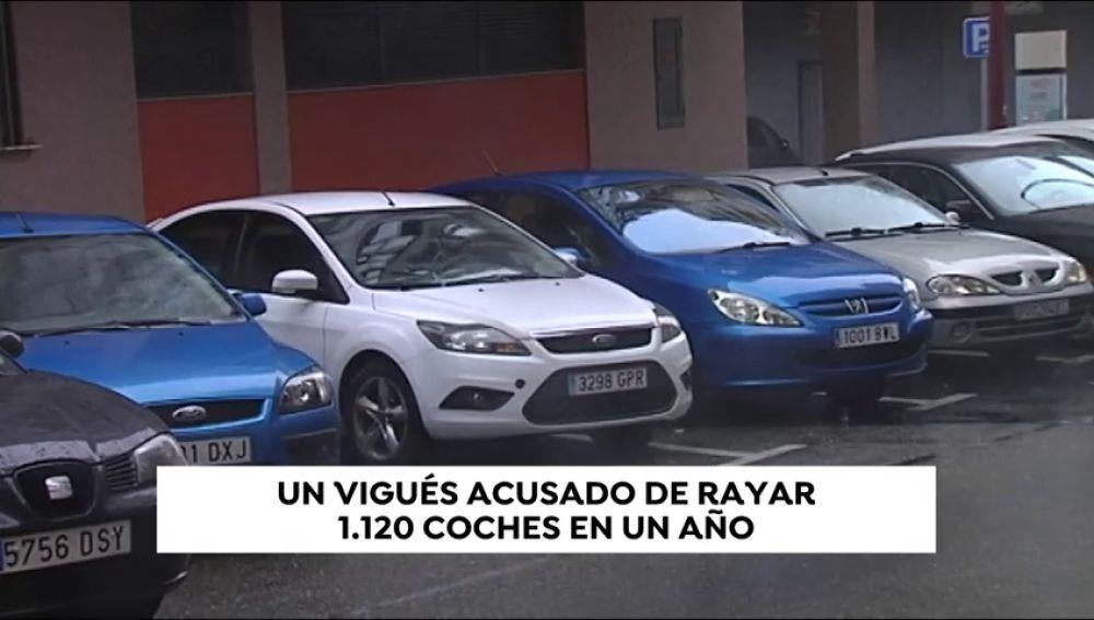 Un vigués, acusado de rayar más de mil coches en un año