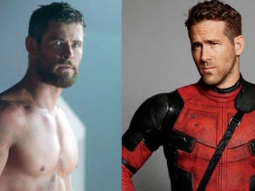 Chris Hemsworth y Ryan Reynolds son 'Thor' y 'Deadpool' en Marvel