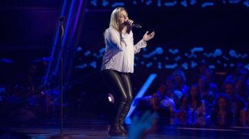 Apryl Scemama canta 'Comme d'habitude' en las 'Audiciones a ciegas' de 'La Voz'