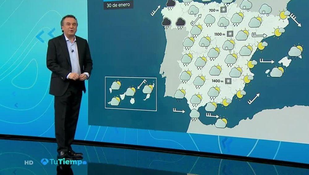 'Gabriel' deja intensas lluvias y vientos muy fuertes en casi toda la Península