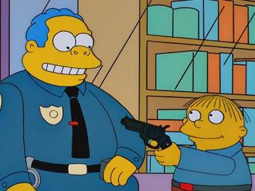 Ralph y el jefe Wiggum en 'Los Simpson'