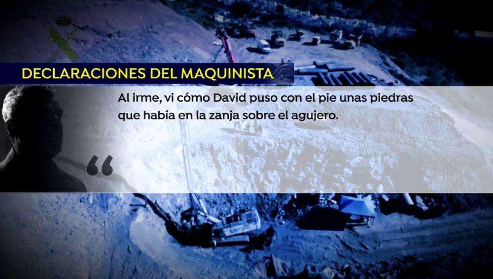 El maquinista de la excavadora cuenta a la Guardia Civil su sospecha de que se pudo haber destapado el pozo