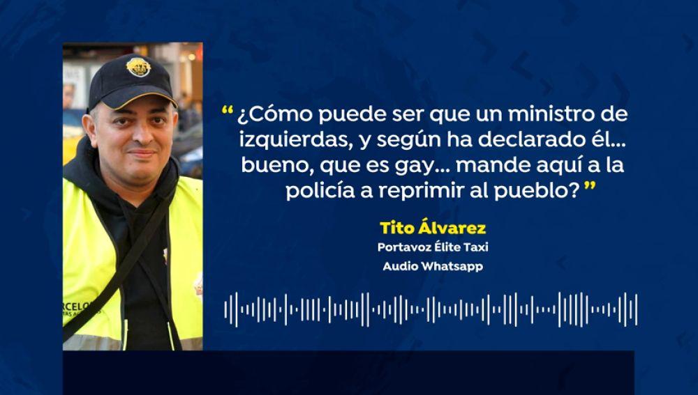Tito Álvarez, el líder del taxi, viaja a Bruselas invitado por Podemos