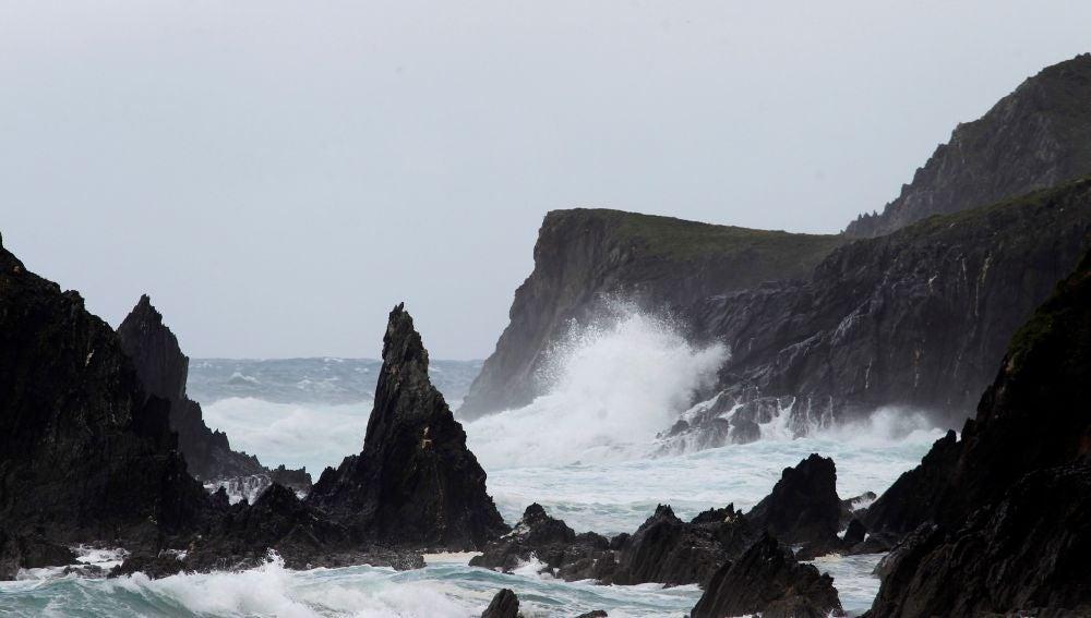 Estado del mar este martes en la costa de Valdoviño (A Coruña)