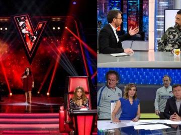 'La Voz', líder absoluto, récord de temporada para 'El Hormiguero 3.0' y máximo histórico para Deportes