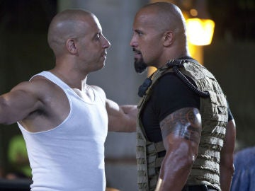 Vin Diesel y Dwayne Johnson en 'Fast and Furious'