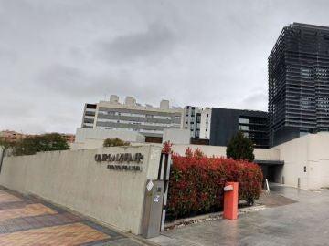 Imagen de la fachada de la residencia de personas con Alzheimer en Madrid