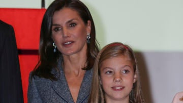 La reina Letizia y la infanta Sofía