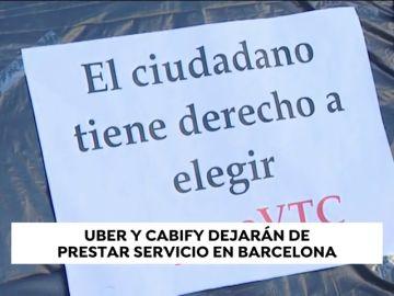 Uber y Cabify ponen fin a sus servicios en Barcelona a partir del 1 de febrero