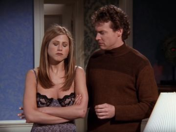 Jennifer Aniston y Tate Donovan en 'Friends'