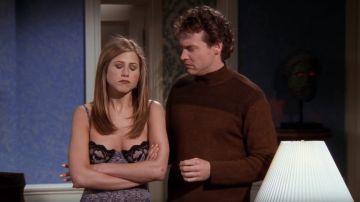 Jennifer Aniston y Tate Donovan en 'Friends'