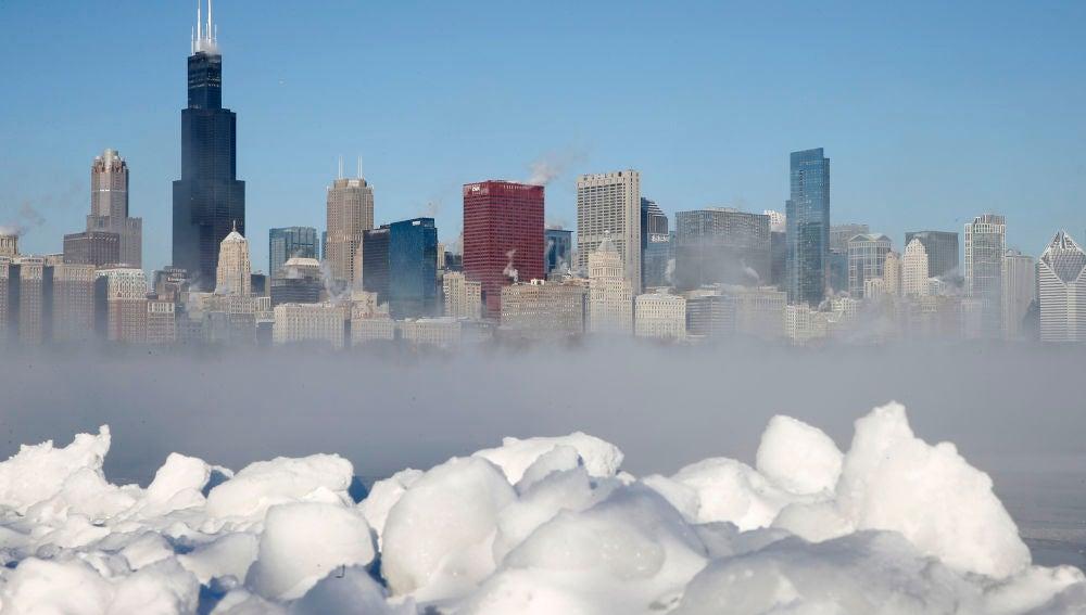 Chicago durante la ola de frío extrema
