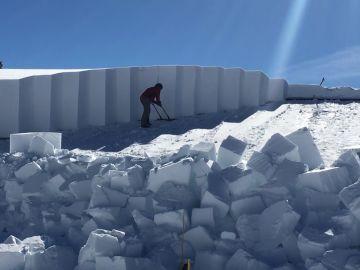 Nieve profunda en Yellowstone