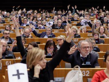 Vista general de la votación celebrada en el pleno del Parlamento Europeo