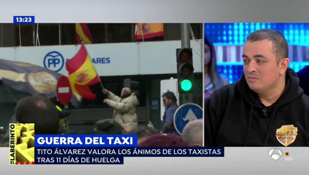 Tito Álvarez, portavoz de Élite Taxi Barcelona, confiesa que ha recibido ofertas para entrar en política