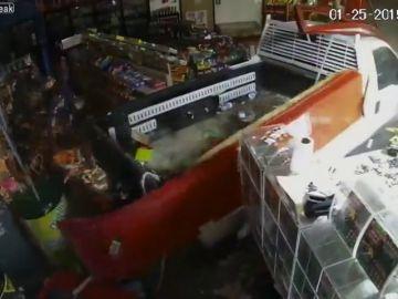 Alunizaje para robar un cajero