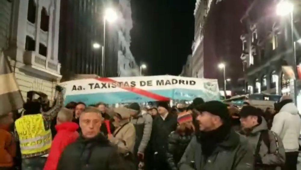 Los taxistas vuelven a tomar las calles de Madrid para exigir a la Comunidad que se cumplan sus propuestas