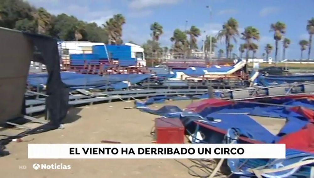 El temporal de agua y viento Helena deja sin luz y agua a todo Andújar (Jaén)