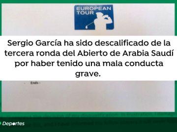 Sergio García, descalificado del Saudi International tras dañar de forma intencionada varios 'greens'