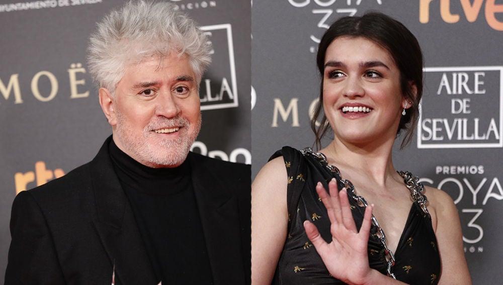Amaia y Pedro Almodóvar