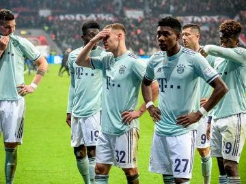 Los jugadores del Bayern, decepcionados