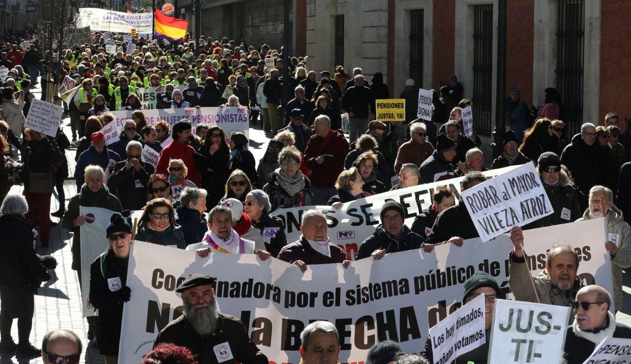 Manifestación de los jubilados en Madrid
