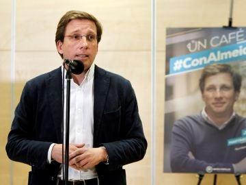 El portavoz del Grupo Municipal Popular en el Ayuntamiento de Madrid y candidato del PP a la alcaldía, José Luis Martínez-Almeida
