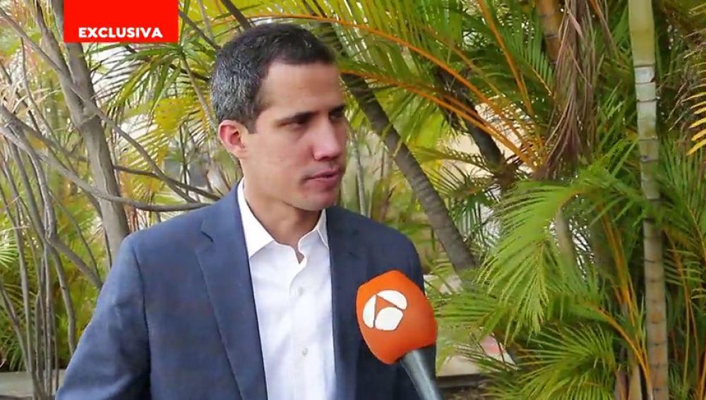 Primera parte de la entrevista en exclusiva de Antena 3 Noticias a Juan Guaidó