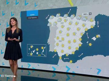 El lunes, temperaturas diurnas al alza y tiempo estable en casi todo el país