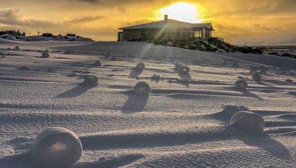 rollo de nieve
