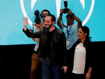 El candidato del partido GANA a la presidencia de El Salvador Nayib Bukele