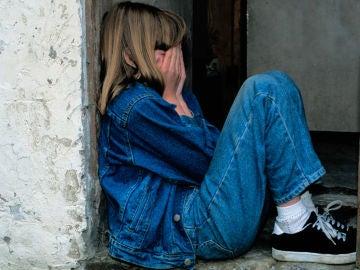 Una niña triste