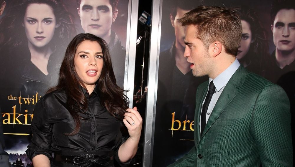 Stephenie Meyer y Robert Pattinson