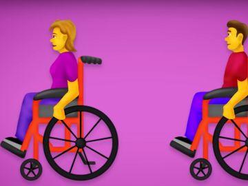 Imagen de uno de los nuevos 'emojis' de personas con discapacidad