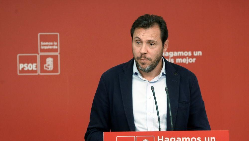 El portavoz de la Ejecutiva Federal del PSOE, y alcalde de Valladolid, Óscar Puente
