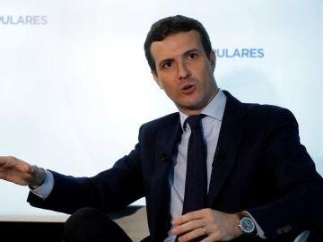 El persidente del PP, Pablo Casado