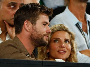 Chris Hemsworth y Elsa Pataky en el Open de Australia