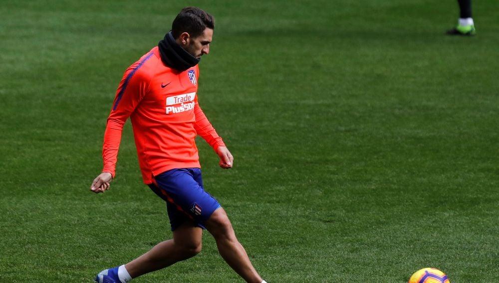Koke se entrena con el Atlético de Madrid