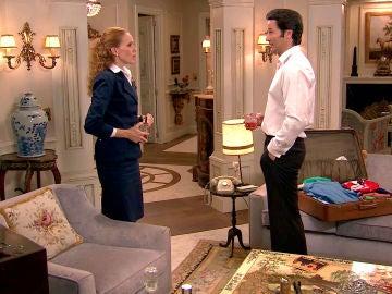 Gabriel instala a Natalia en casa contra su voluntad