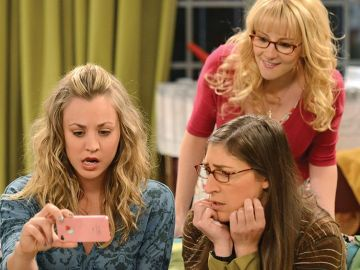 Penny, Amy y Bernadette en 'The Big Bang Theory'