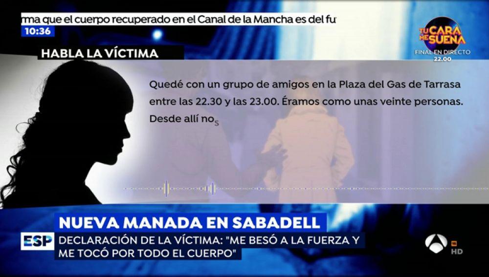 La declaración de la víctima de la 'Manada de Sabadell'.