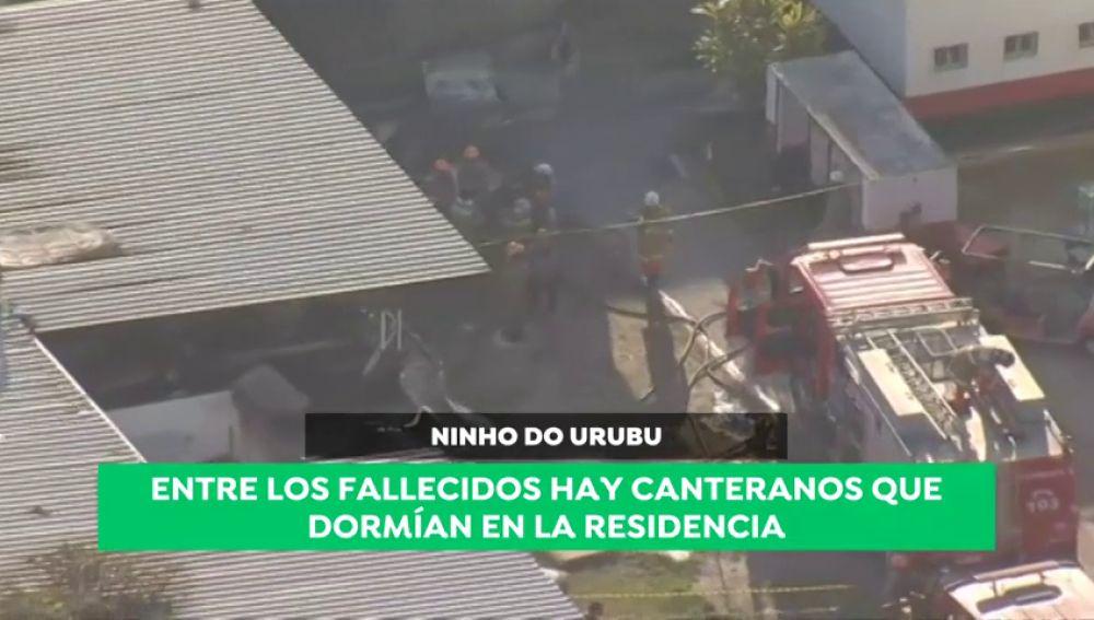 Diez muertos en un incendio en las instalaciones de la ciudad deportiva del Flamengo
