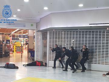 Simulacro de atentado en Las Palmas